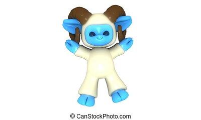 doll of the sheep - dancing sheep doll
