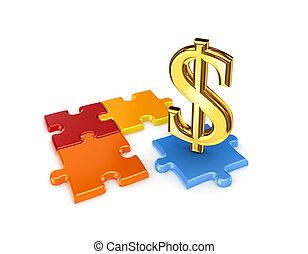 dollar., シンボル, パズル