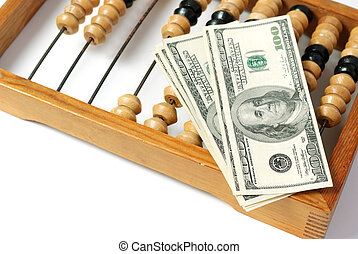 dollar and abacus