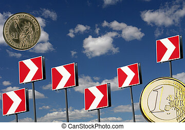 Dollar, and euro