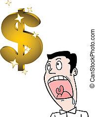 Dollar and man - Creative design of dollar and man