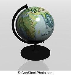 dollar as globe