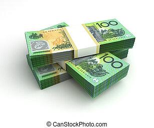 dollar australien, pile