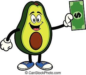 dollar, avocado, mascotte