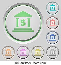 Dollar bank push buttons