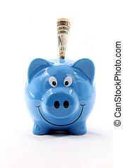 Dollar banknote Piggy Bank