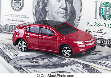 Dollar Banknotes and Toy Car