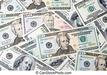 Dollar banknotes, business money as a background