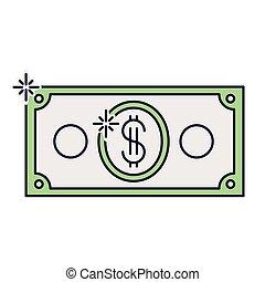dollar bill isolated icon