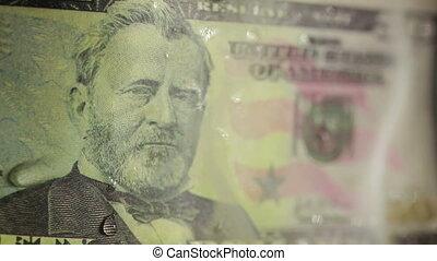 dollar bill on fire. fire and money. 50 - dollar bill on...