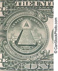 Dollar Bill Pyramid Eye 2 - Dollar Bill Pyramid Eye close up