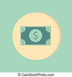 Dollar bill. symbol of money