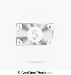 dollar, bill.
