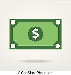 dollar bill vector graphic, money illustration