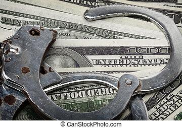 Financial Crime and Corruption concept