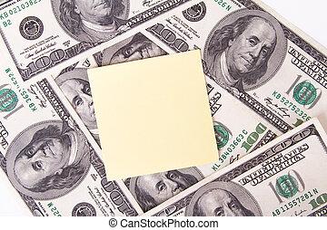 Dollar Bills and Sticky Post