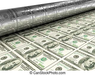 Dollar bills mashine