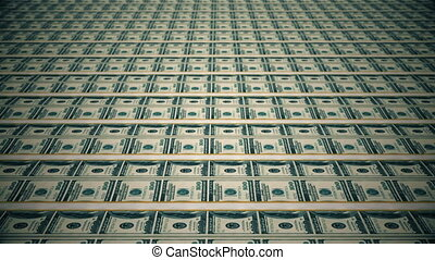 Dollar bills, money background.