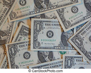 Dollar Bills - Dollar bills filling the frame.