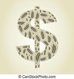 dollar, blé
