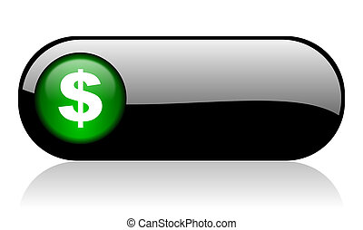 dollar black glossy banner