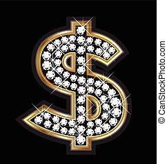 Dollar bling logo