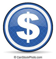 dollar blue icon us dollar sign