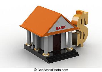 dollar, bringen vorzeichen bank