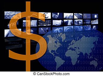 Dollar Business corporate image, multiple screen