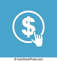 Dollar button icon