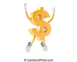 Dollar character jumping