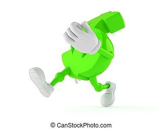Dollar character running