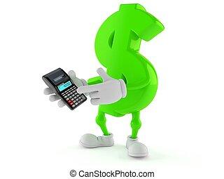 Dollar character using calculator