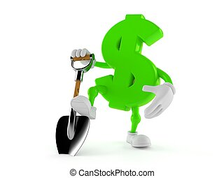 Dollar character with shovel