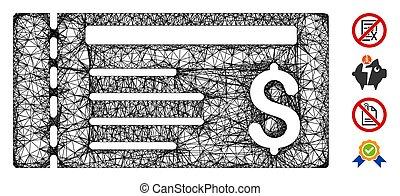 Dollar Cheque Web Vector Mesh Illustration