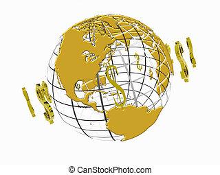 dollar, circulation, world.