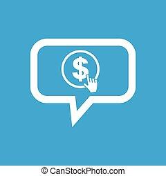 Dollar click message icon