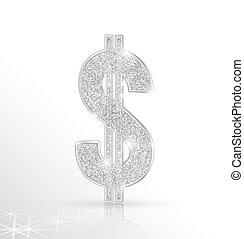 dollar - Vector symbol of silver dollar