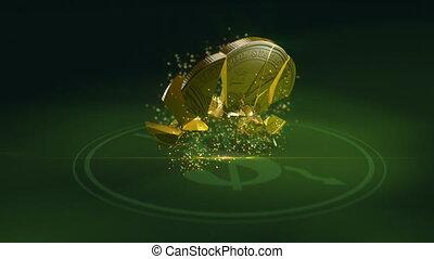 Dollar coin crash