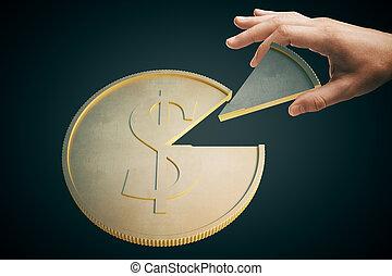 Dollar coin dark