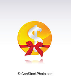 dollar coin gift