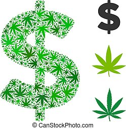 Dollar Composition of Hemp Leaves