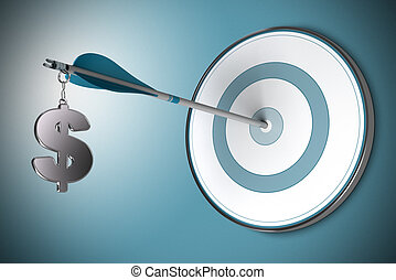 Dollar Concept, Financial Adviser or Finance Advisory - One...