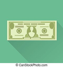 dollar currency banknote green vector