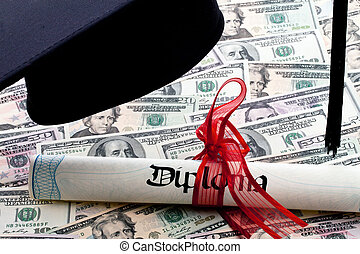 Dollar Currency certificates and diploma
