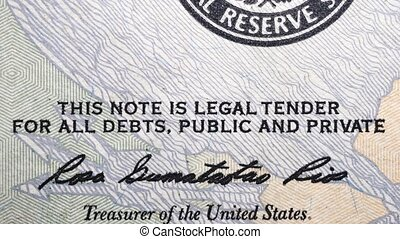 Dollar Currency Note - Close up footage of U.S. Dollar