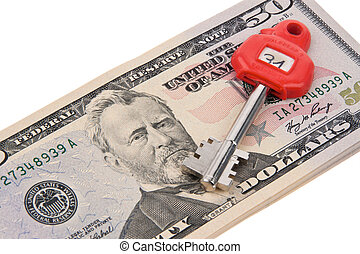 Dollar Currency notes and keys safe