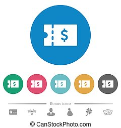 Dollar discount coupon flat round icons - Dollar discount...