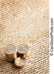 dollar dollar pénzdarab, képben látható, nyilatkozat