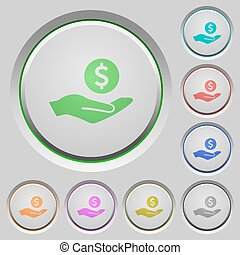 Dollar earnings push buttons